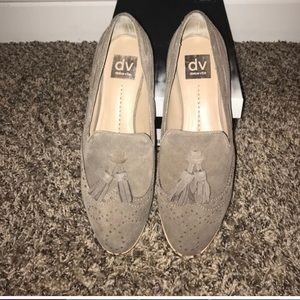 DV by Dolce Vita Marcel Taupe Suede Flats Sz 8